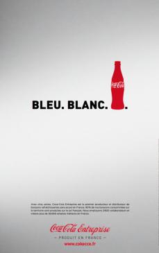 """ Bleu. Blanc… Coca-Cola"" (Coca-Cola) | Agence : Babel, France (novembre 2015)"
