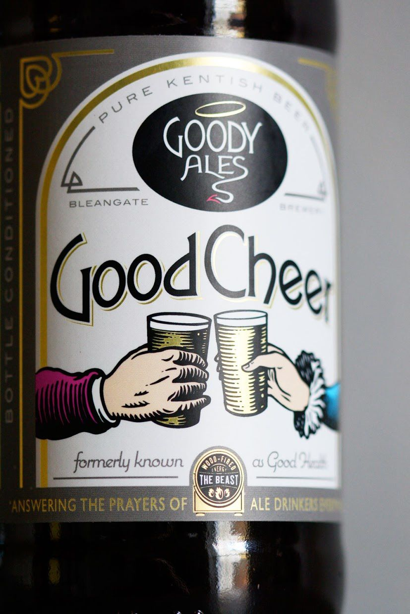 Good Cheer - Goody Ales (bière) | Design : Sand Creative, Kent, Royaume-Uni (décembre 2015)