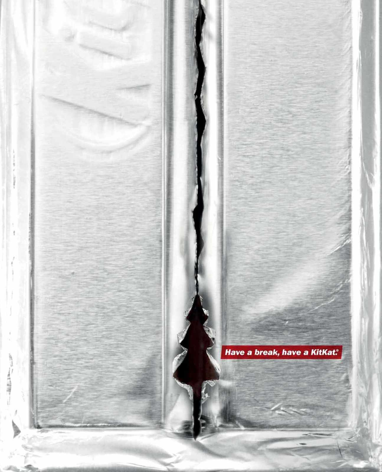 """Have a break, have a KitKat"" - Festive Foil 