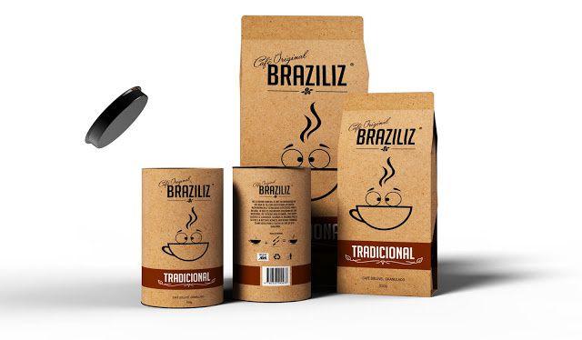 BRAZILIZ (BRASIL + FELIZ) (café) | Design (concept) : Klivisson Campelo, Brésil (janvier 2016)
