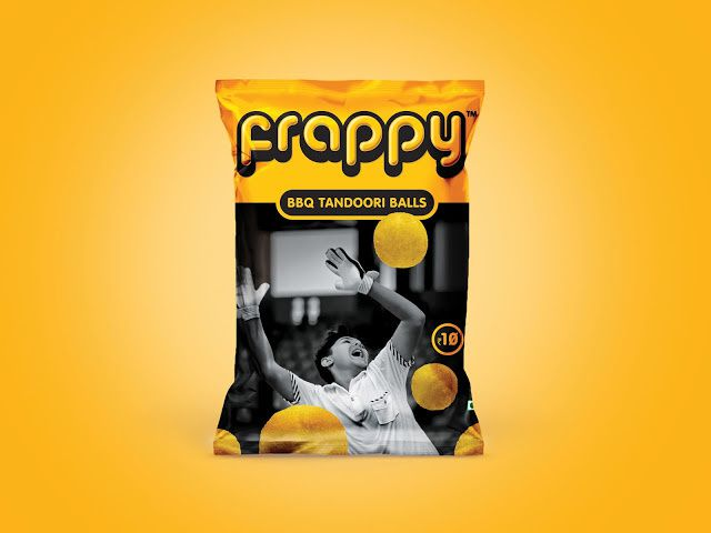 Frappy - Chamunda Snacks (chips apéritives) | Design : Lemon Yellow, Inde (janvier 2016)