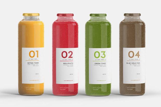 DETOX3 (jus de fruits detox) | Design (concept) : Marina Porté, Barcelone, Espagne (janvier 2016)