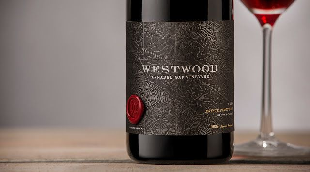 Westwood Winery (vin) | Design : Auston Design Group, Emeryville, États-Unis (janvier 2016)