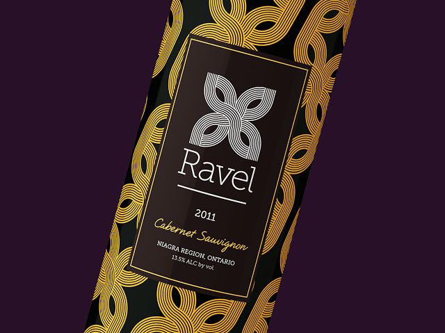 Ravel (vins premium) | Design : Tom Ralston, Toronto, Ontario, Canada (janvier 2016)