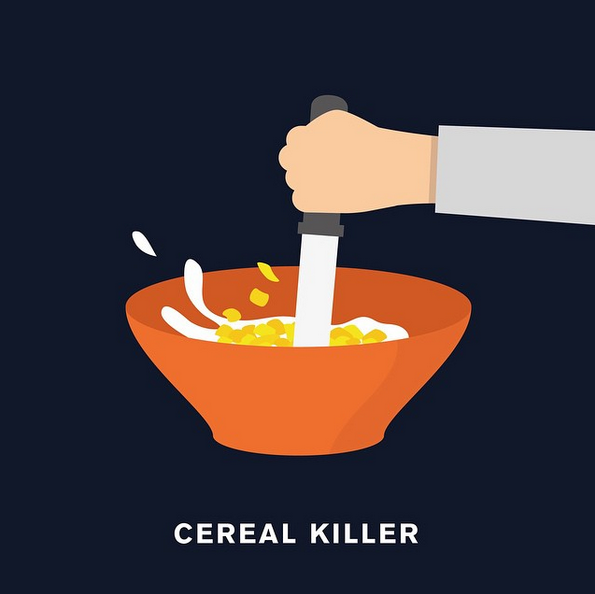 """Cereal killer"" - © punnypixels"