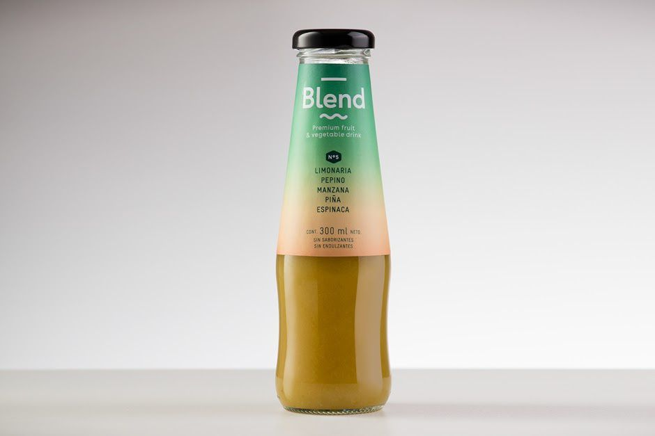 Blend (jus de fruits premium) | Design : Siegenthaler &Co, Bogotá, Colombia (février 2016)