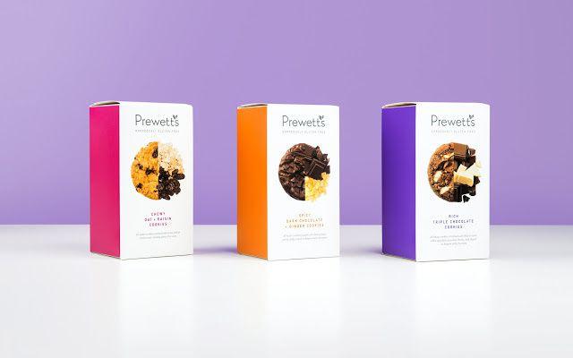 Prewetts - Northumbrian Fine Foods (biscuits sans gluten premium) | Design : Robot Food, Gateshead, Royaume-Uni (février 2016)