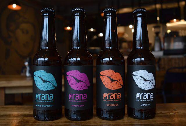 Prana Drinks (Kombucha bio) | Design : Clik, Thaxted, Royaume-Uni (février 2016)