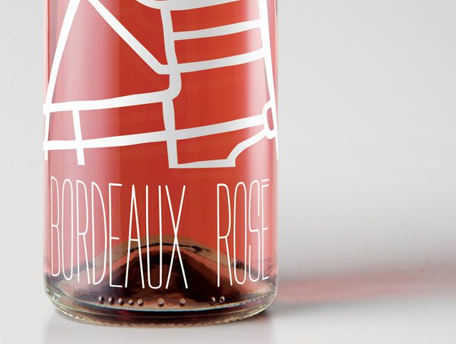 Bordeaux Rosé (vin rosé) | Design (projet étudiant) : Damien Poeymiroo (ECV Aquitaine), Bordeaux, France (février 2016)