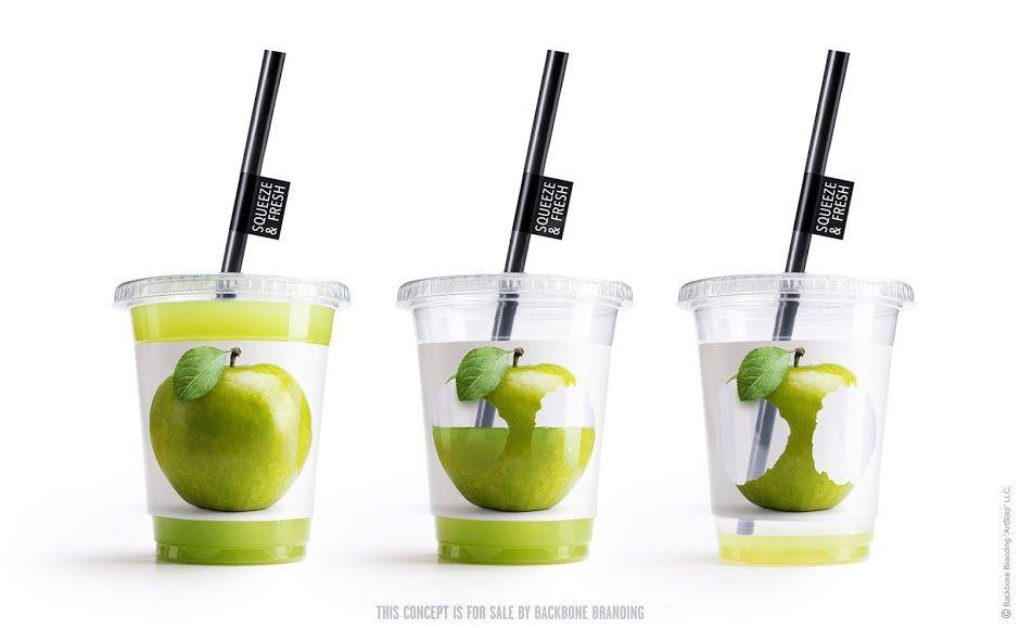 Squeeze & Fresh (jus de fruit) | Design (concept) : Backbone Branding, Yerevan, Armenie (mars 2016)