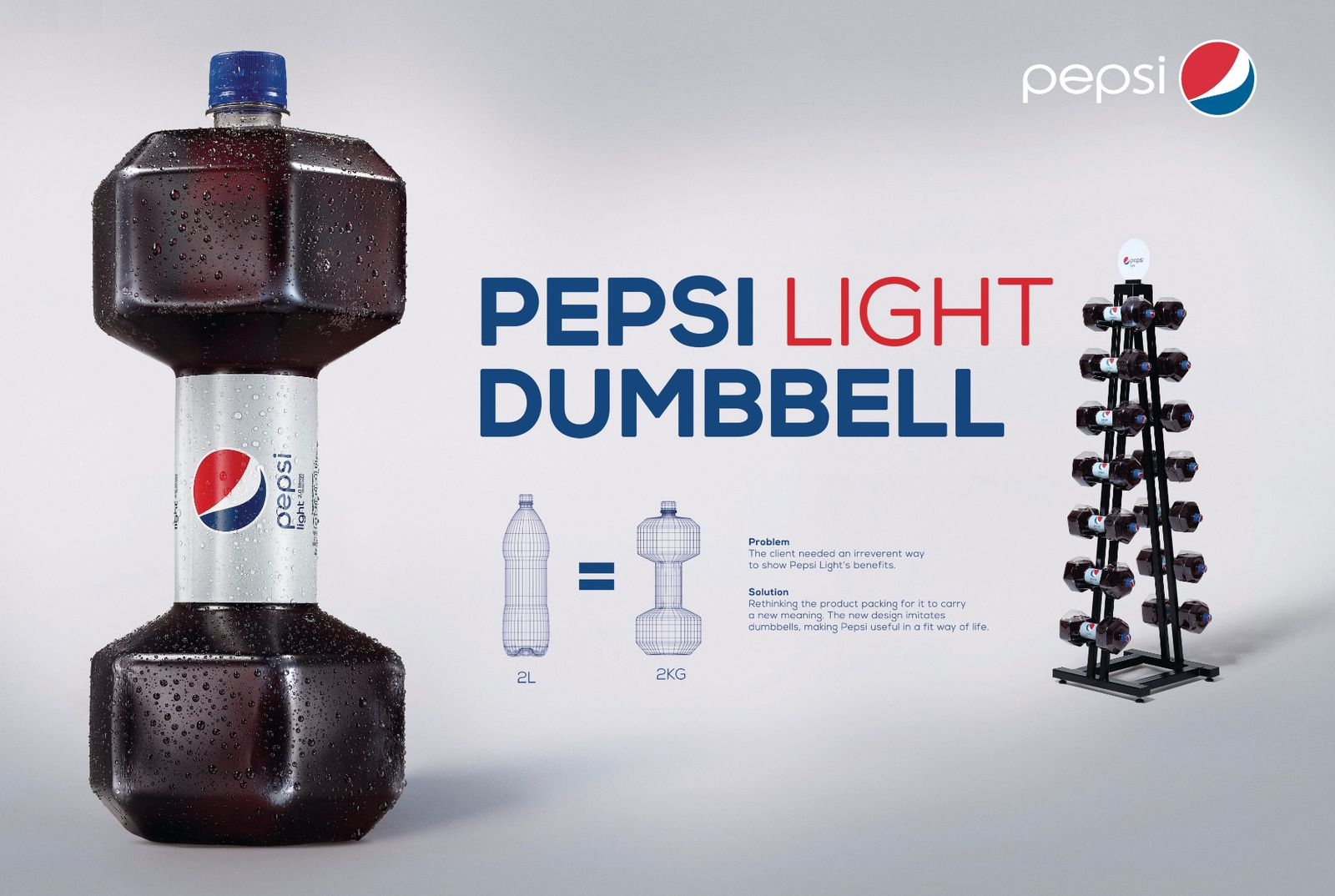 Pepsi Light Dumbbell - Pepsi (soda) | Design : AlmapBBDO, Brésil (mars 2016)