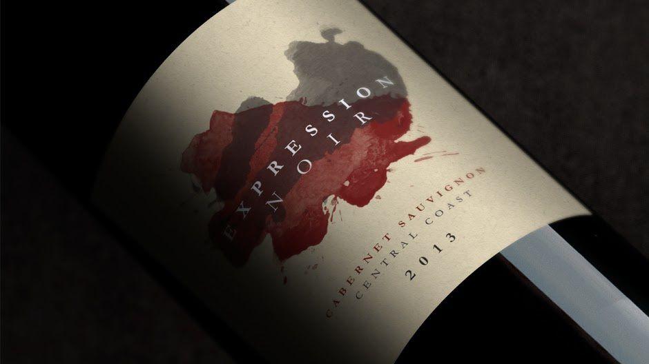Expression Noir (vin / Cabarnet Sauvignon) | Design (concept) : Caio Duarte, São Paulo, Brésil (mars 2016)