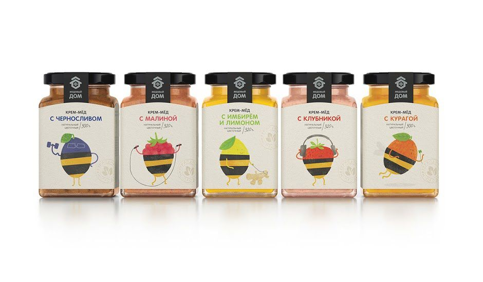 Honey + Berries (miel aux fruits) | Design : Masha Ponomareva, Russie (mars 2016)