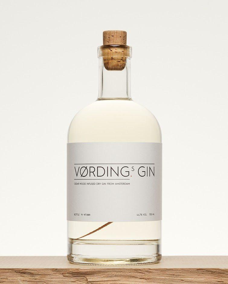Vørding's Gin (gin) | Design : Studio Vørding, Amsterdam, Pays-Bas (mars 2016)
