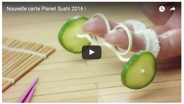 Nouvelle carte Planet Sushi 2016 ! - Planet Sushi | Agence : WAX Interactive, France (mars 2016)