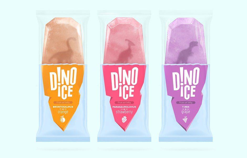 Dino Ice (glaces à l'eau) | Design (concept) : Sasha Perelman, Katya Mushkina, Moscou, Russie (avril 2016)