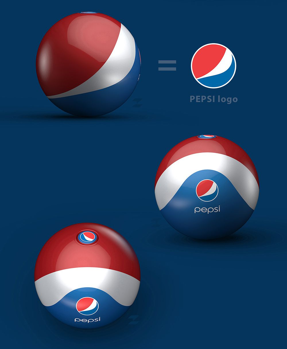 Pepsi Rubber Ball / Bottle (soda) | Design (concept) : Tomislav Zvonaric, Zagreb, Croatie (avril 2016)