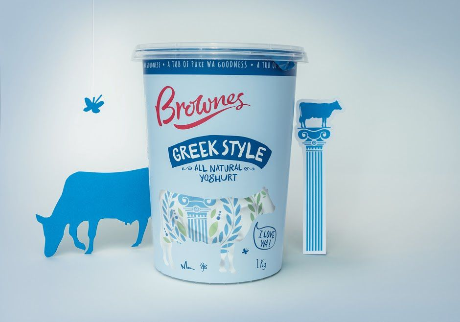 Brownes Dairy (yaourts) | Design :  Boxer & Co., Australie (avril 2016)