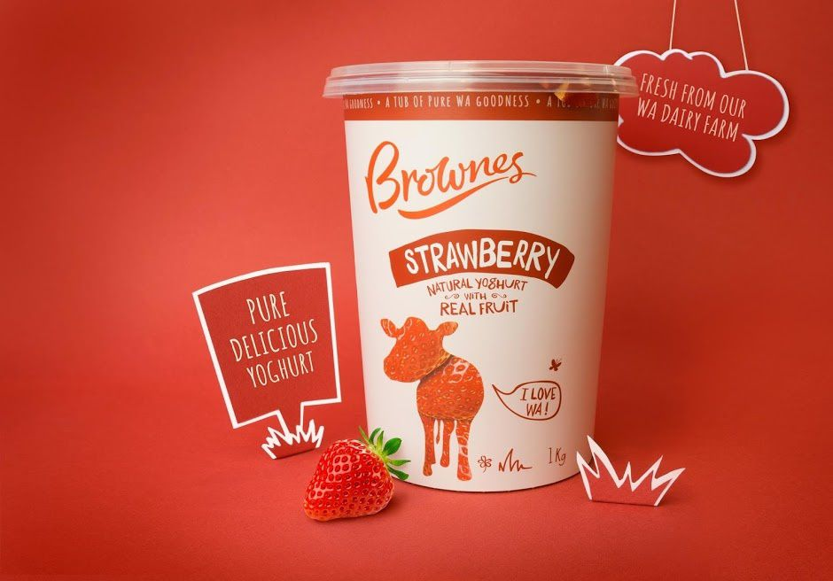 Brownes Dairy (yaourts)   Design :  Boxer & Co., Australie (avril 2016)