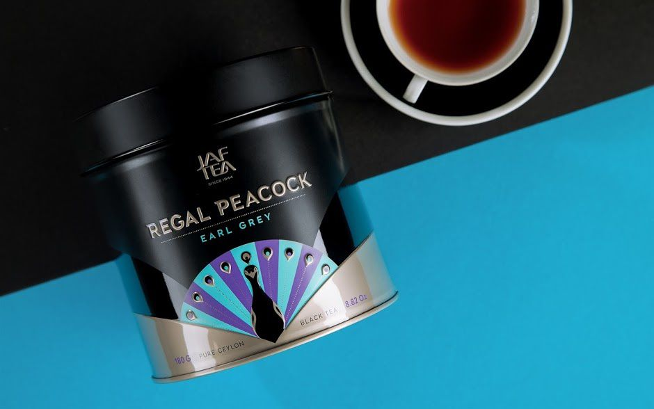 Regal Peacock - Jaf Tea (thé) | Design : Openmint, Moscou, Russie (avril 2016)