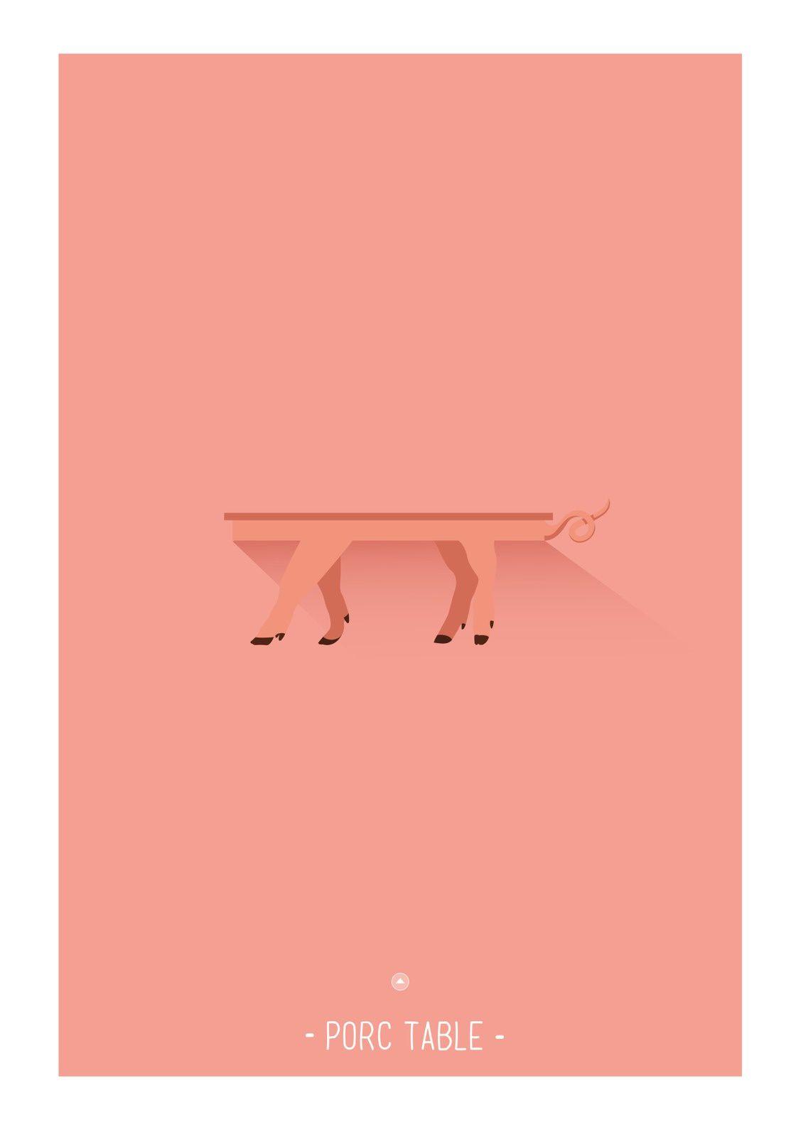 Porc table | © Les Mots Dits