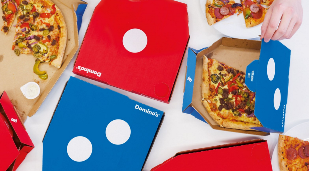 Domino's Pizza | Design : Jones Knowles Ritchi, Royaume-Uni (2016)