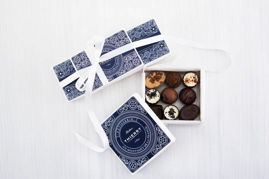 Thierry Pâtisserie & Chocolaterie | Design (projet étudiant) : Anna Lindow, Nathalie Agnekil, Linnea Djurberg (Broby Grafiska), Suède (mai 2016)