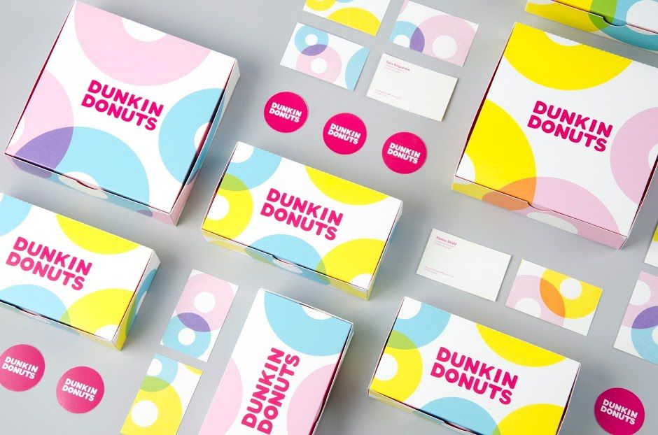 Dunkin Donuts | Design (projet étudiant) : Hanna Sköld & Sara Knipström (Brobygrafiska), Suède (mai 2016)