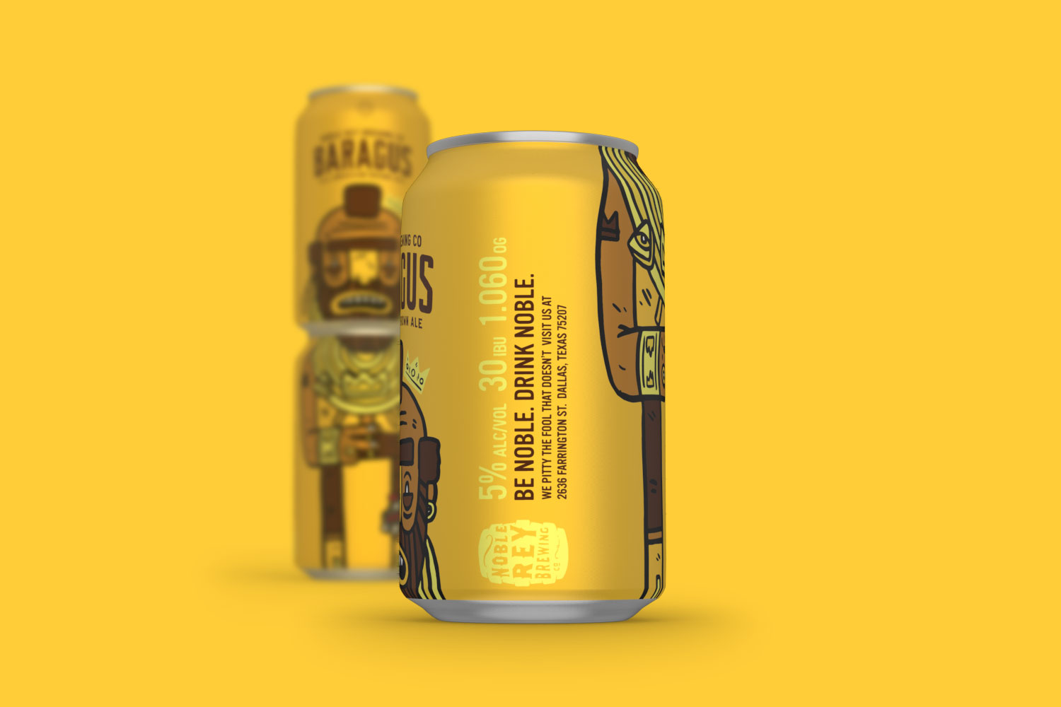 Noble Rey Brewing Co. (bière) | Design : Magnificent Beard, Etats-Unis (juillet 2016)