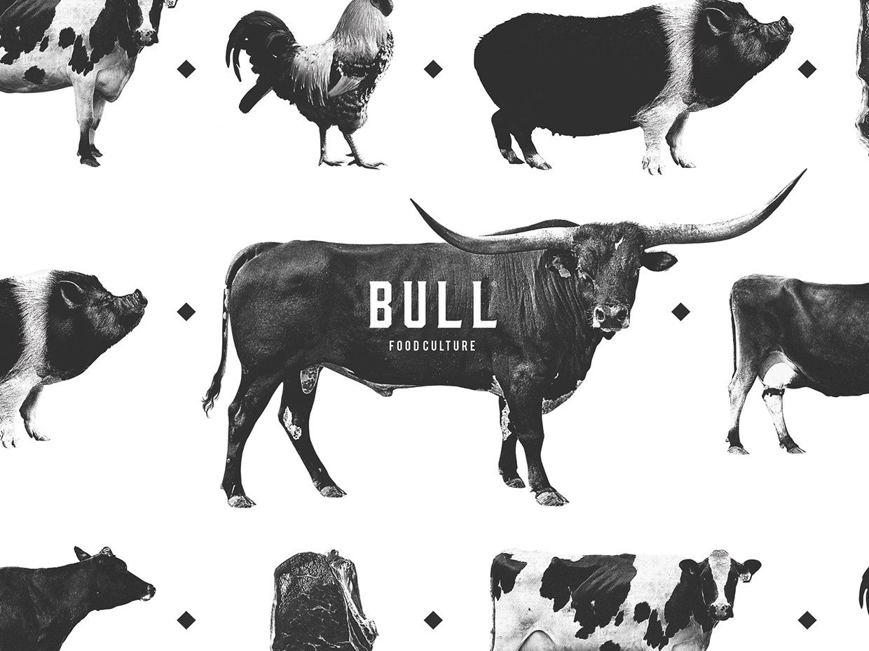 BULL - Food Culture (restaurant fast-food) | Design : BULLSEYE - Aim on branding, Portugal (juillet 2016)
