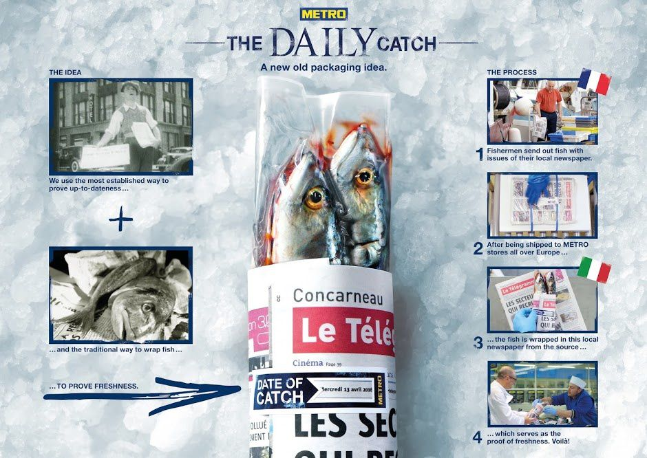 """The Daily Catch : a new old packaging idea"" - METRO"