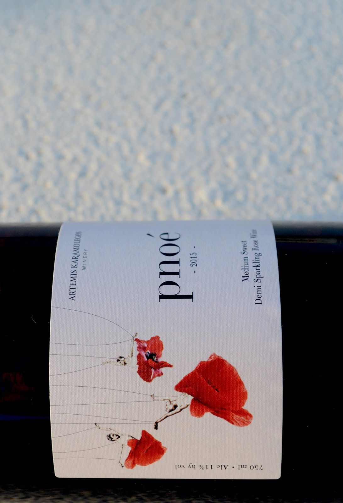 pnoé - Artemis Karamolegos Winery Santorini (vin) | Design : stefi filippopoulou, Santorin, Grèce (juillet 2016)