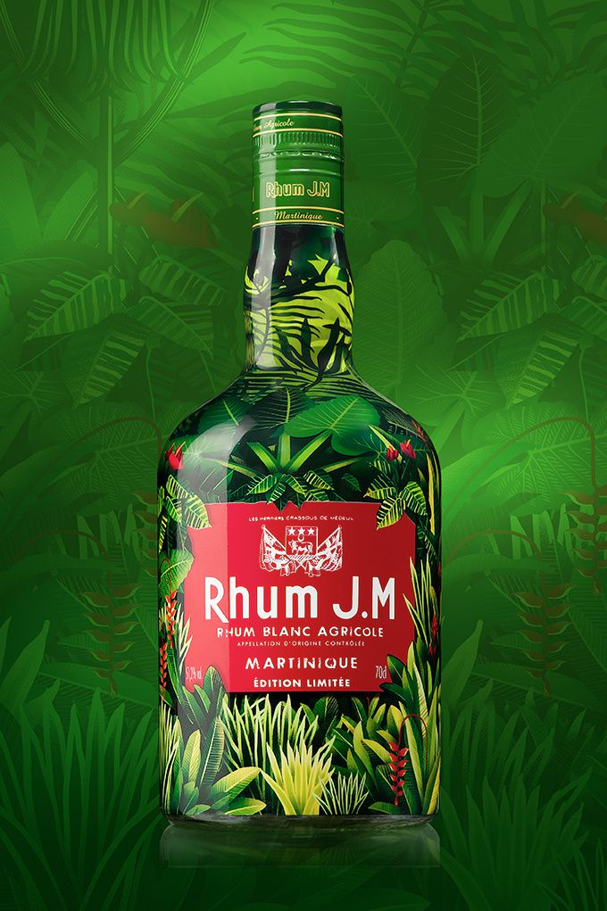 J.M - Jungle Macouba (rhum agricole) | Design : LINEA, France (juillet 2016)