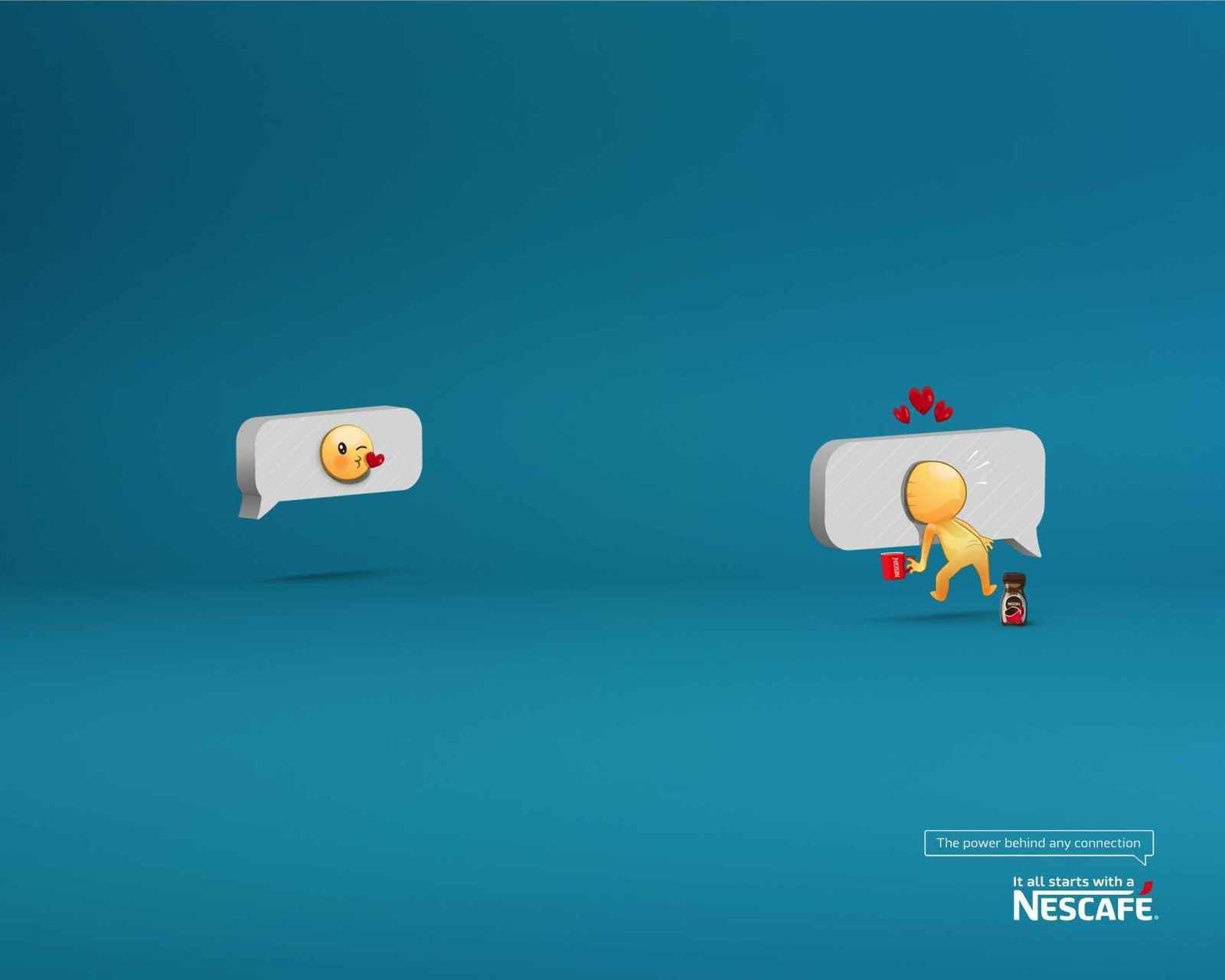 """The power behind any connection"" - Nescafé (café) 