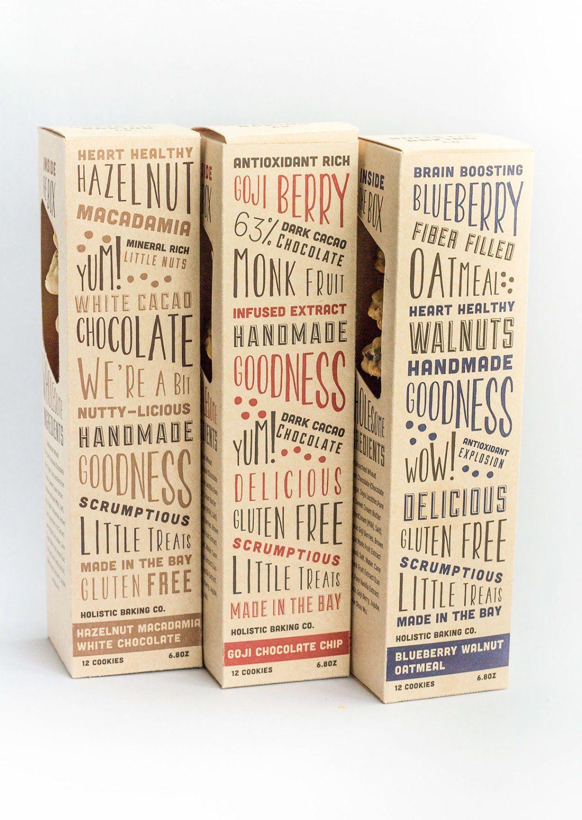 Holistic Baking Company (cookies) | Design : Tania Zhurbenko, San Francisco, Etats-Unis (août 2016)