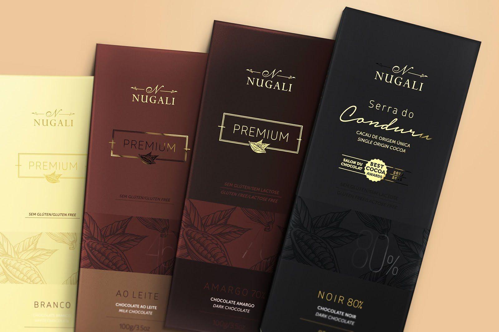 Nugali (chocolat premium) | Design : FAZdesign, Joinville, Brésil (août 2016)