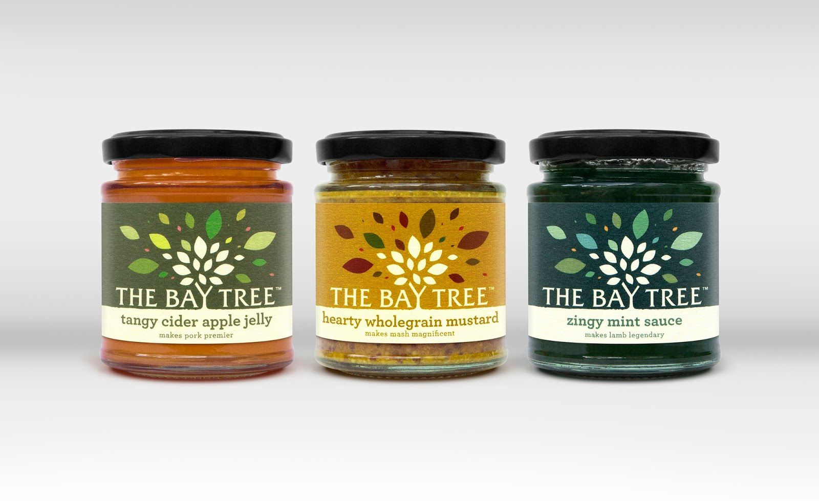 The Bay Tree - Bay Tree Foods Company (confitures, sauces et condiments) | Design : Afterhours, Royaume-Uni (août 2016)