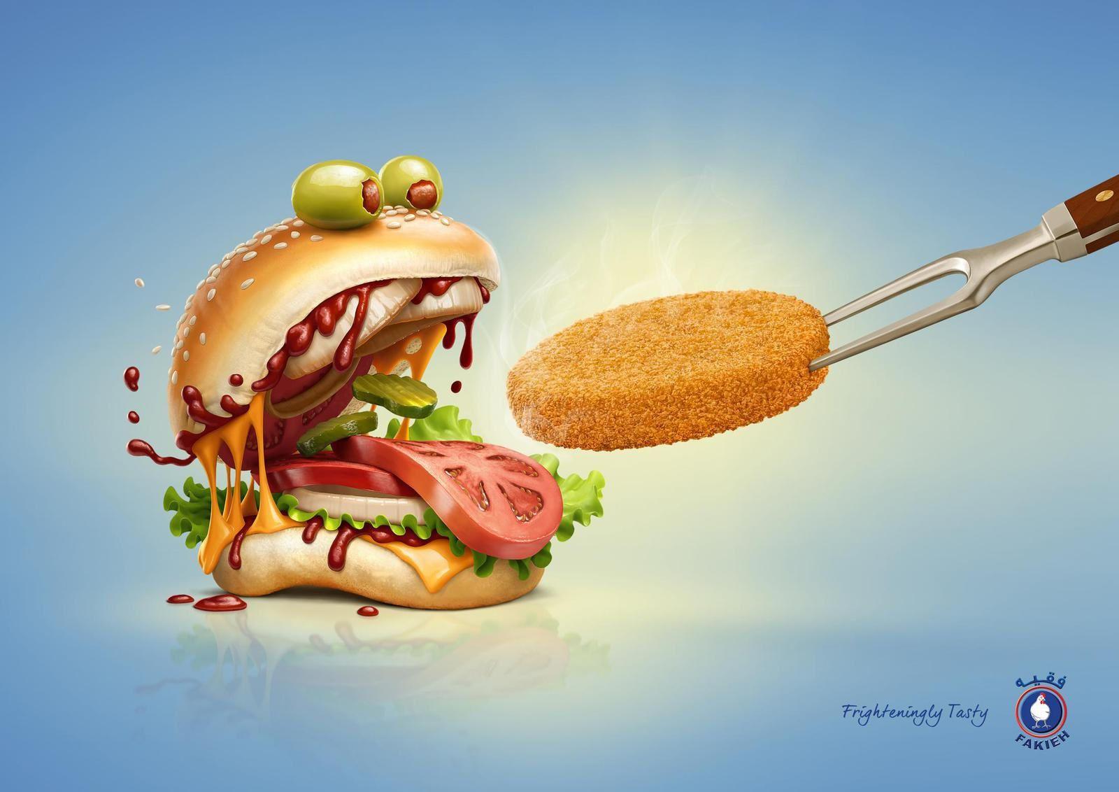 """Frightreningly tasty"" - Fakieh Chicken I Agence : Buheis Creative, Jeddah, Arabie Saoudite (octobre 2016)"