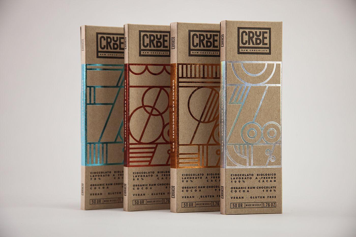 Crude (chocolat cru bio) I Design : Happycentro, Italie (décembre 2016)