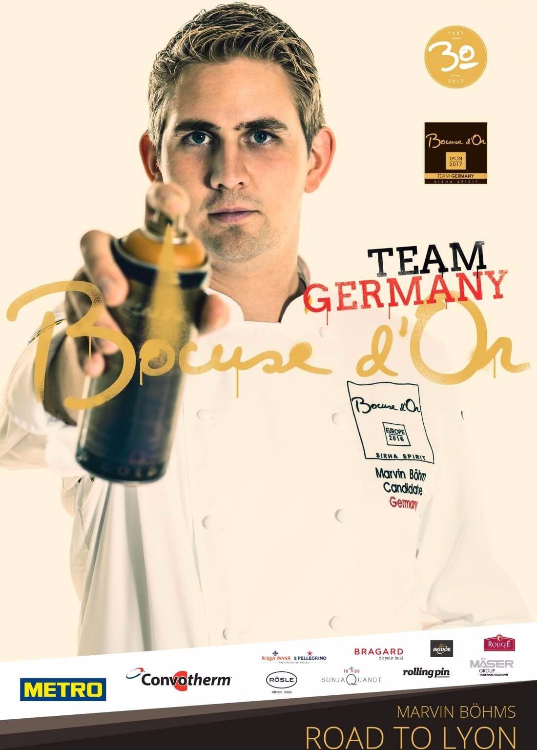 Poster de l'équipe d'Allemagne - Bocuse d'Or 2017