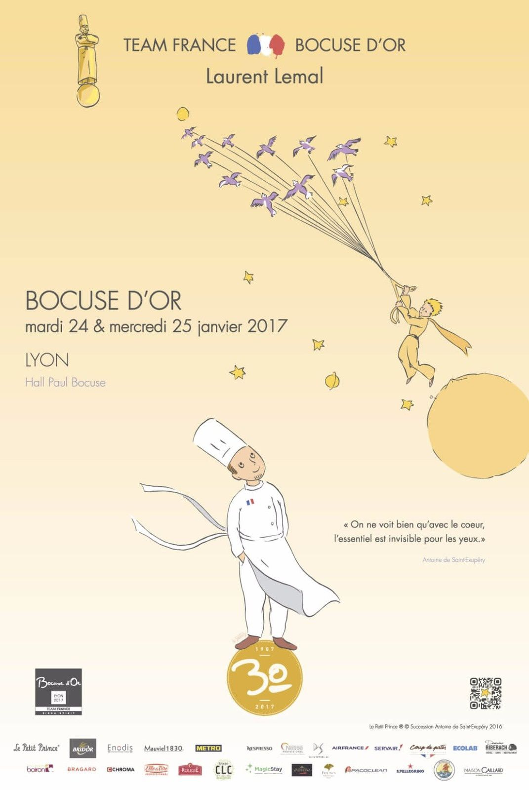 Poster de l'équipe de France - Bocuse d'Or 2017