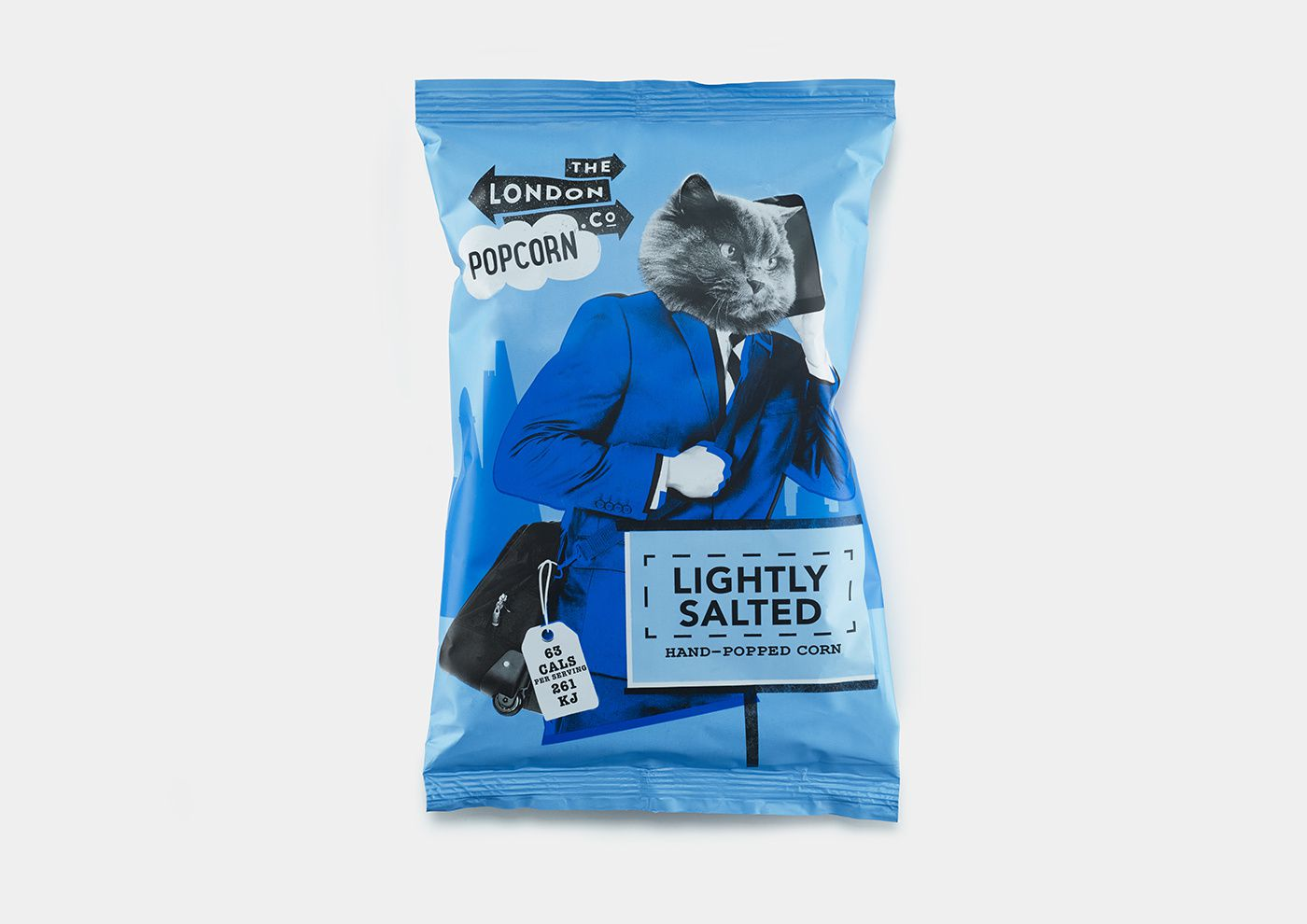 London Popcorn Co. (popcorn apéritif) I Design : B&B Studio, Royaume-Uni (janvier 2017)