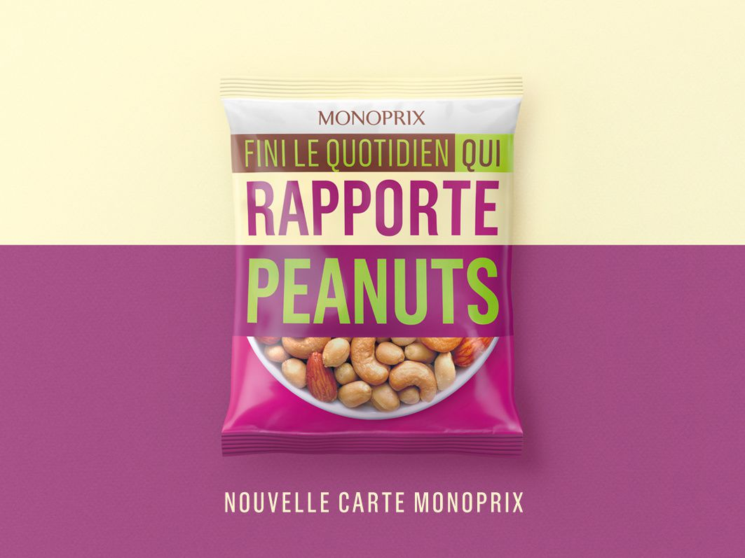Nouveau programme de fidélité Monoprix (marque de distributeur) I Agence : Rosapark, France (mars 2017)