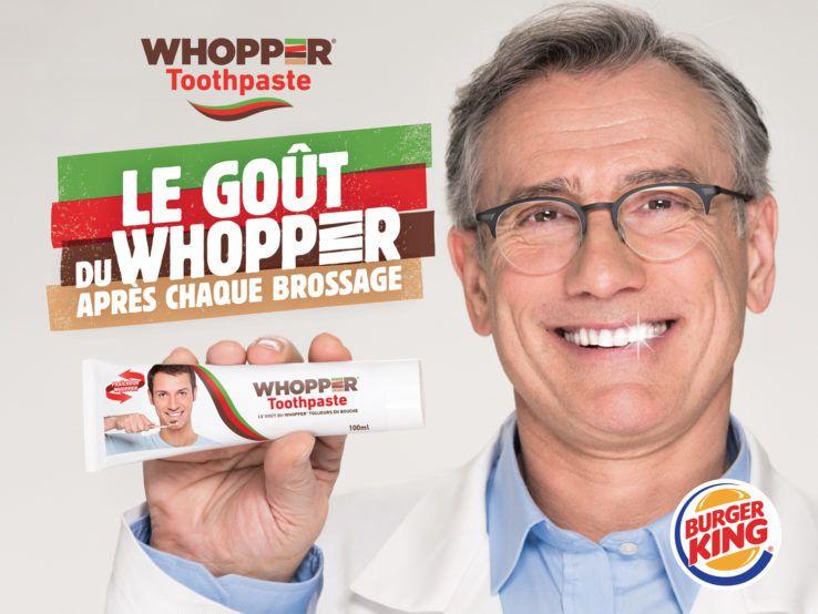 WHOPPER® TOOTHPASTE - Burger King I Agence : Buzzman, France (mars 2017)
