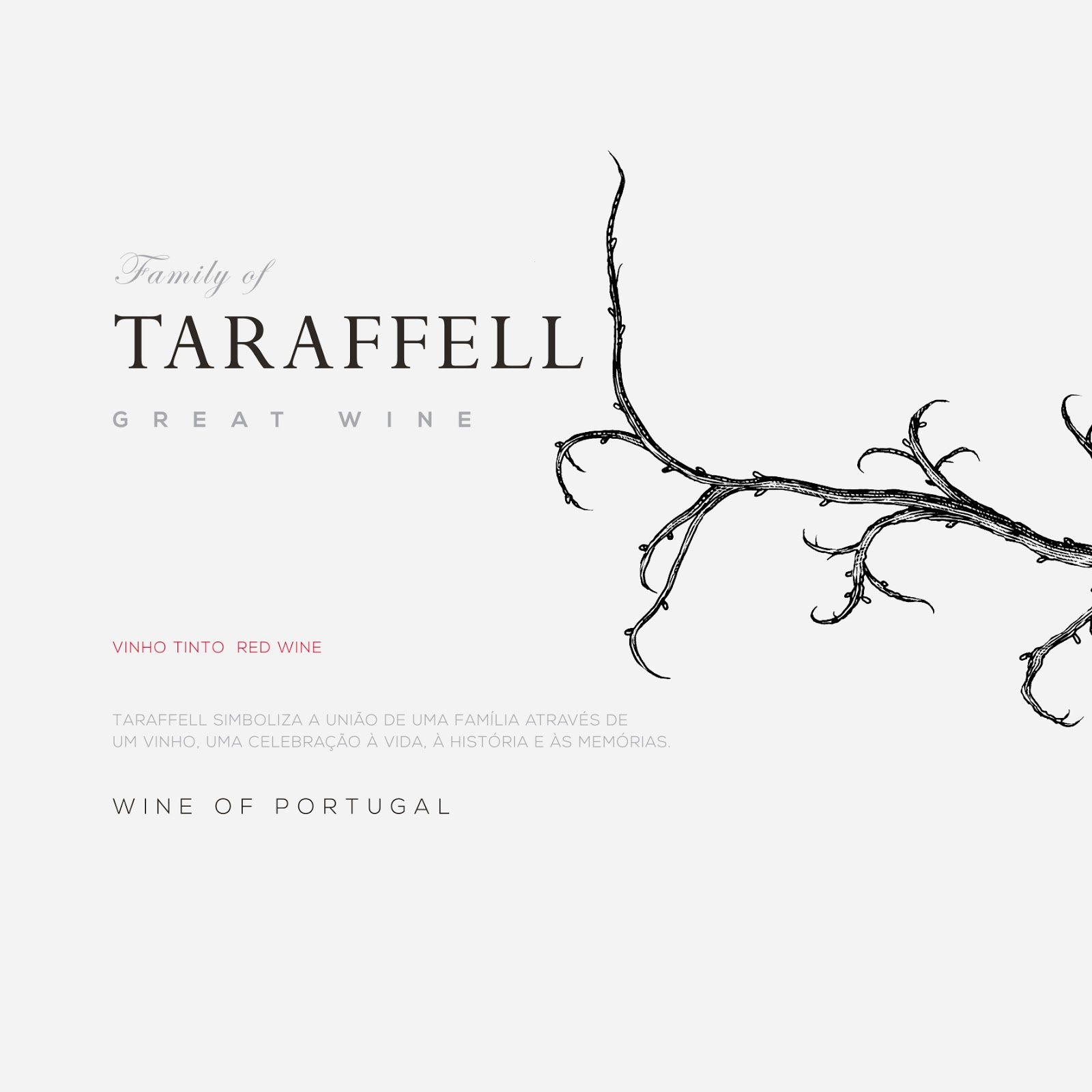 Tarafell Great Wine (vin portugais) I Design : Nektar Brand Advertisers, Luxembourg (mars 2017)