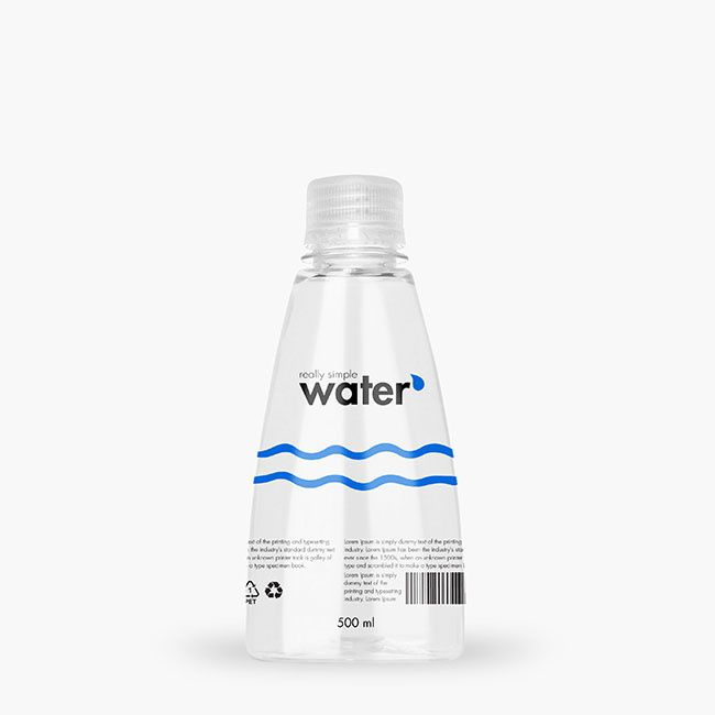 Really Simple Water (eau) I Design : Packvisuals (mars 2017)