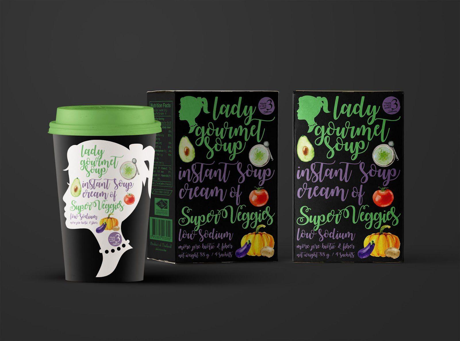 Lady Gourmet (soupes instantanées premium) I Design : Wonder Machine Studio, Thaïlande (juin 2017)