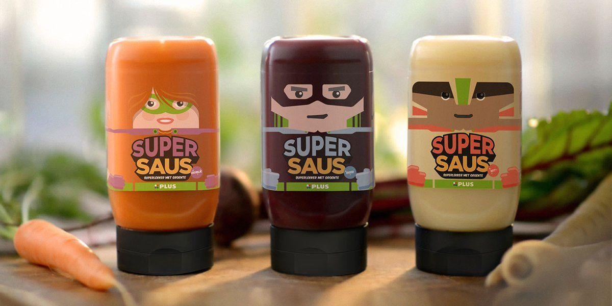 "Plus Supermarket - ""SuperSauce"" (sauce 100% légumes) I Agence : JWT, Amsterdam, Pays-Bas (juin 2017)"