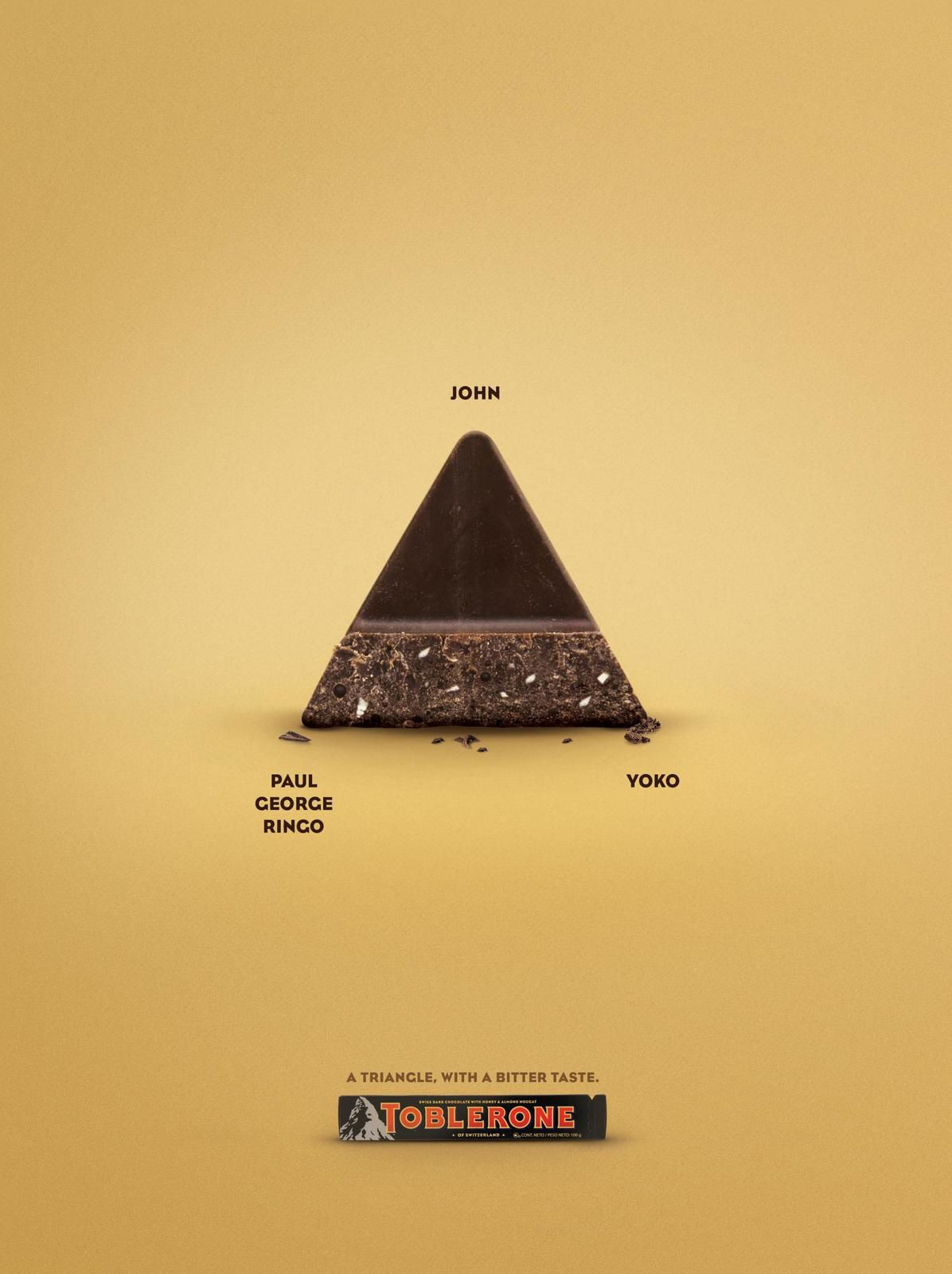 "Toblerone - Love Triangles : ""A triangle, with a bitter taste"" I Agence : Museo, Santiago, Chili (juillet 2017)"