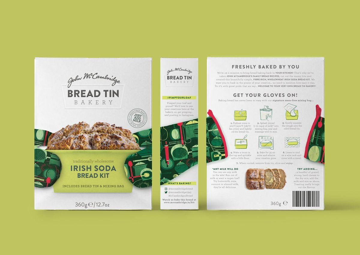 John McCambridge - Bread Tin Bakery (kit de préparation pour pain maison) I Design : Brandpoint, Londres, Royaume-Uni (juillet 2017)